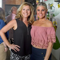 Dana McWhorter, April Ryan at Sawyer Yards Artists Stroll