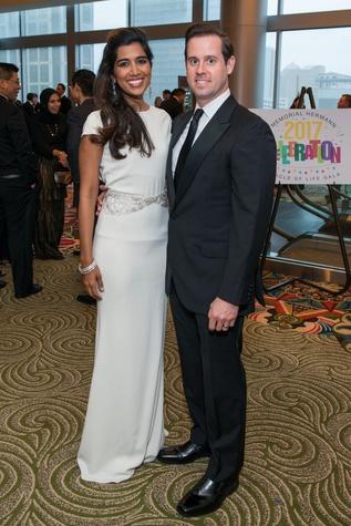 Divya and Chris Brown at Memorial Hermann Gala