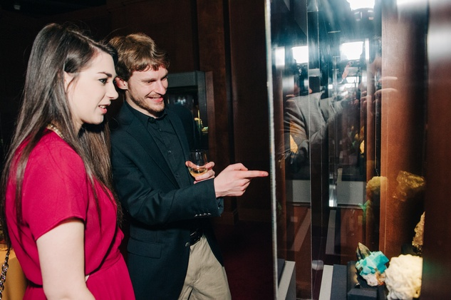 News, Shelby, Museum of Natural Science Catalyst party, Feb. 2015, Shannon Roberts and John Trier