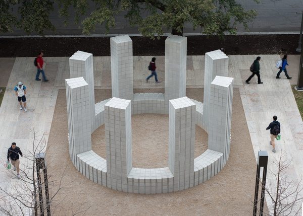 Circle with Towers by Sol LeWitt