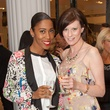 22. Angela Johnson, left, and Christine Kearns at the Little Black Dress designer kick-off party and fashion show March 2014