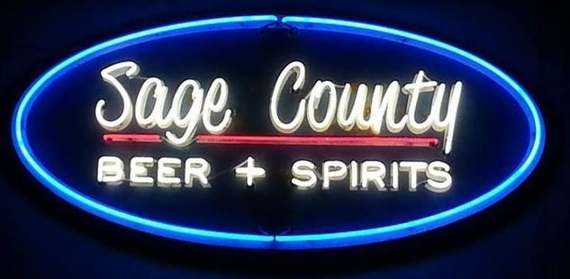 Sage County Midtown neon sign