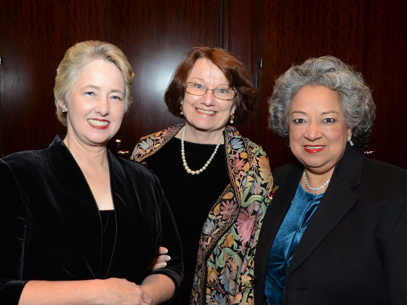 Honoree mayor annise parker from left joins kathy hubbard and lenora