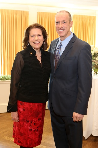 4 Cathy Frank and Jim Kelly at the The Center Luncheon February 2015