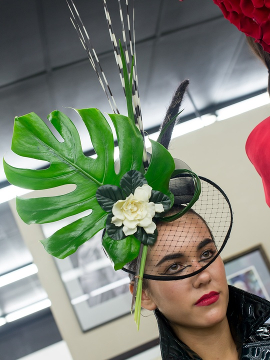 298 Dwight Woodbury floral hats October 2013