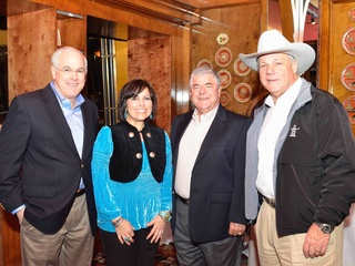 News_King Ranch_preview party_February 2012_Bill Gardiner_Rose Morales_Wayne Hollis_Joe Bruce Hancock