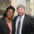 "Rashena Flagg and John Lockhart at the Valvisions Foundation ""Cinema, Canvas & Cuisine"" March 2015"