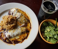Hays City Store veggie enchiladas