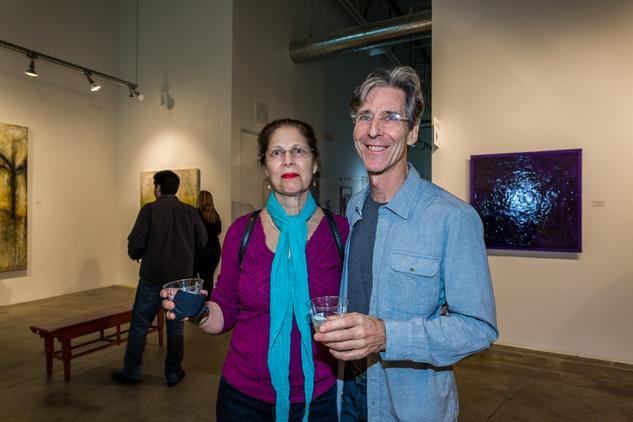 Joanie and Dr. Brian McKenna at Justin Garcia presents 7 Unlayered October 2014