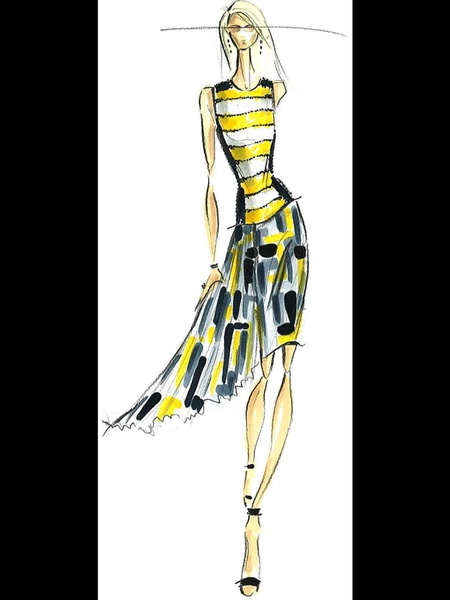 Clifford, Fashion Week, sketches, September 2012, Pamella Roland