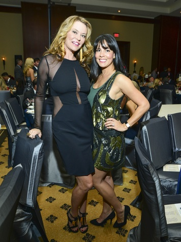 17 Megan Sutton-Reed, left, and Jessica Graham at Una Notte in Italia November 2013