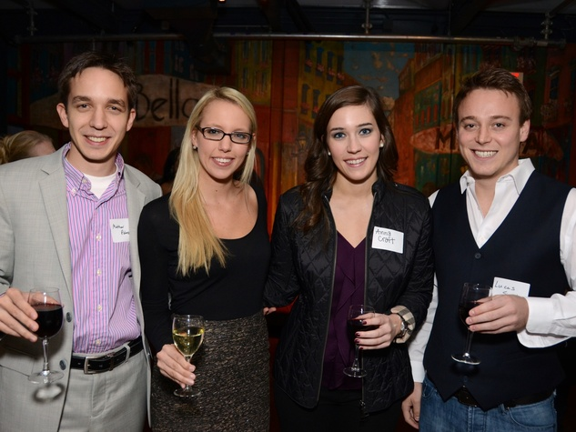 2 Matthew Piskorz, from left, Ashleigh Schap, Anna Craft and Lucas Siegel at the Holocaust Museum Houston's Next Generation Young Professionals kickoff party November 2013