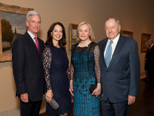 17 Paul and Karol Barnhart, from left, and Anne and Charles Duncan at the MFAH Impressionism dinner December 2013