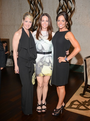 8 1627 at the Jonathan Blake fashion party April 2014 Tara Muller, from left, Cammie Kennedy and Karen Klucznik