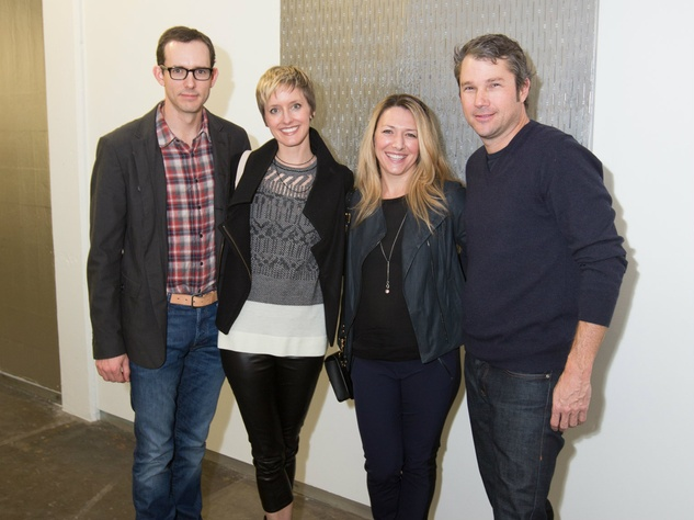 Doug MacMahon, Catherine MacMahon, Janelle Pinnell, Alden Pinnell, Dallas Contemporary Exhibition Opening