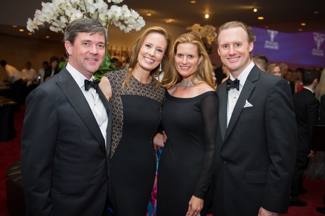 3097 Matt and Cat Hennessy, from left, Emily and Tyler VanHoutan at the Houston Symphony Centennial Ball May 2014