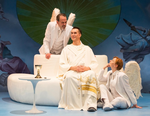 Alley Theatre: Act of God, Todd Waite, John Feltch, Emily Trask