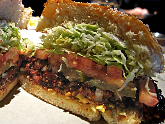 Veggie burger at Houston's restaurant in Dallas