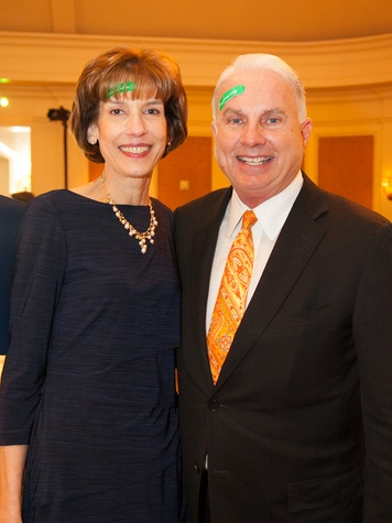 Jenifer Jarriel and Mark Wallace at the DePelchin Children's Center luncheon April 2014