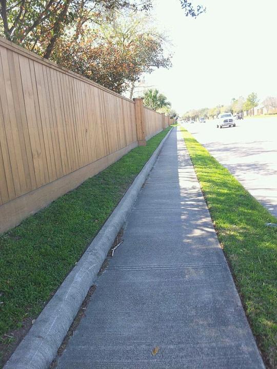 11, The Art Guys, longest street, Rare suburban sidewalk