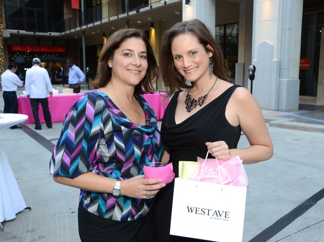 0 Lisa Gochman, left, and Amber Willis at the West Ave Turns Pink party October 2013