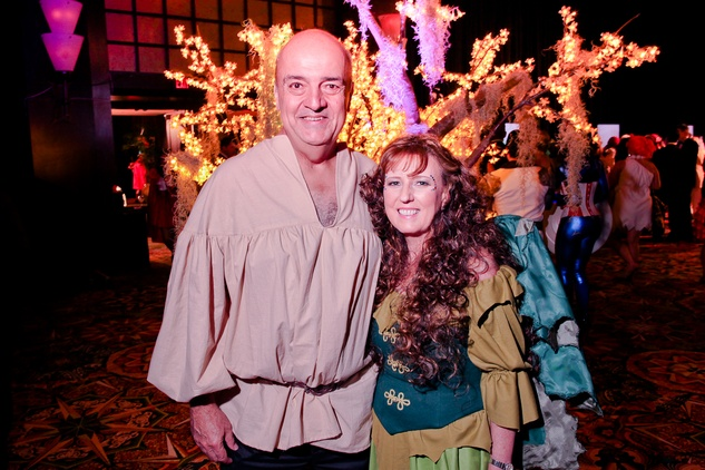 25 Ozzie and Debbie Bauer at the Ronald McDonald House Houston Boo Ball October 2014