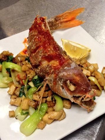 Goro & Gun whole fried Gulf fish for two