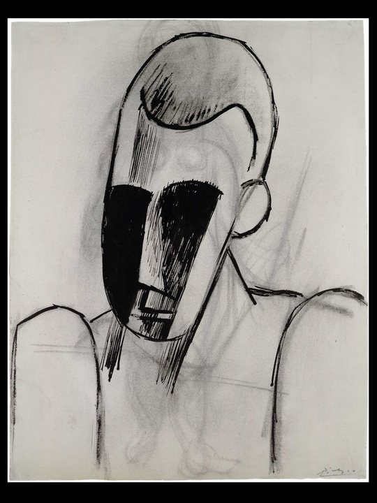 MFAH, Picasso, Head of a Man