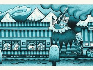 Adventure Time Mondo gallery Mystery Train by John Vogl