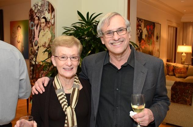 Lynn Detrick and Harvey Marks at the MFAH Contemporary party January 2014