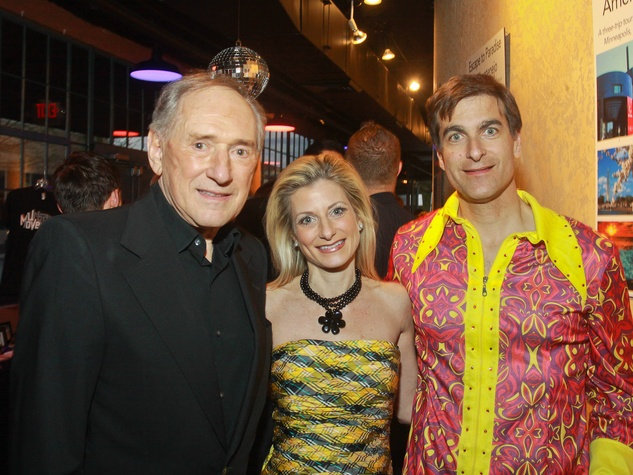Stages Repertory Theatre gala, April 2013, Leonard Rutan, from left, his daughter, Marni Ruton, and Dominic Cellitti. Leonard and Dominic are auction chairs
