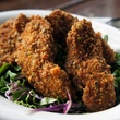 Pistachio fried chicken at the Old Monk in Dallas