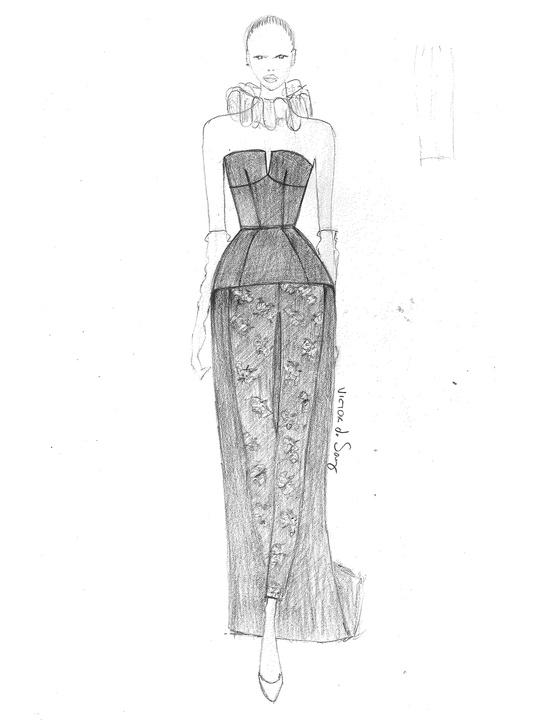 Fashion Week fall 2013, sketches, February 2013, Victor de Souza
