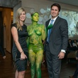 10 Jillian and James Rodgers with painted model at the JW Marriott Houston Grand Opening November 2014