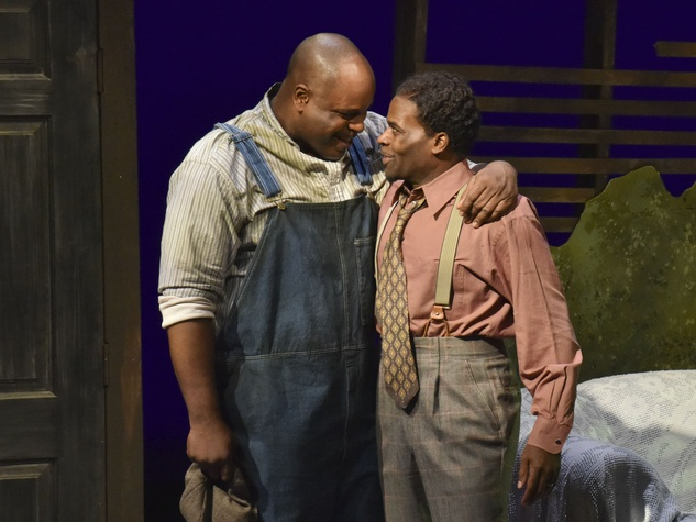 J. Bernard Calloway and Cedric Neal in Dallas Theater Center's Stagger Lee