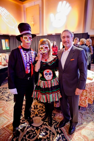 10 Marty and Karen Skolnik, from left, with Marshall Hoffman at the Orange Show Gala November 2014