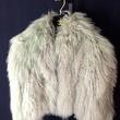 Chanel cropped gray Mongolian lamb fur jacket