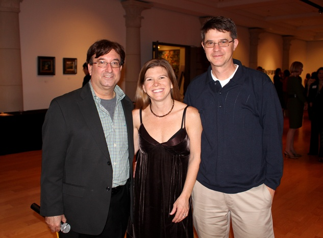 Scott Peck, Laura Pate, Andy Pate,  mba 8x8 party