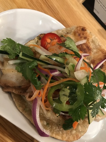 Maba Pan-Asian diner pork belly taco