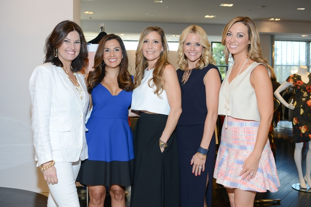 10 Claudia Lobão, from left, Julie Chen, Laurel Berman, Lyndsey Zorich and Katy Mayell Ellis at the WOW Summer Soiree August 2014
