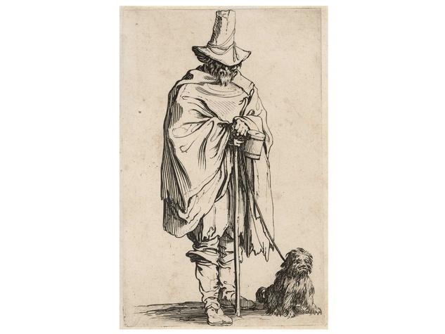 MFAH, Jacques Callot, February 2013, Les Gueux l'aveugle et son chien