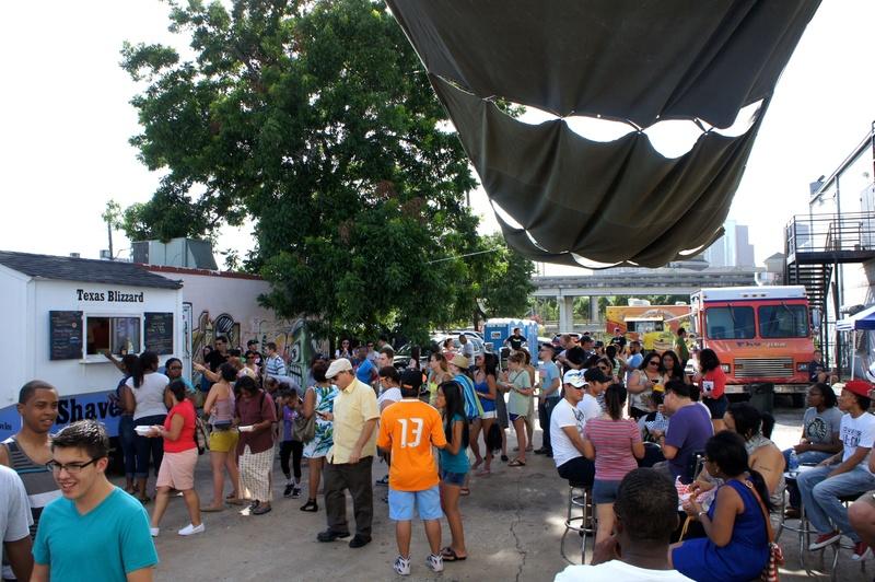 Houston Food truck Park grand opening