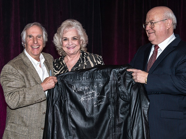 In the Pink of Health VIP party in The Woodlands October 2013 Henry Winkler, left, and Marian and Don Spence