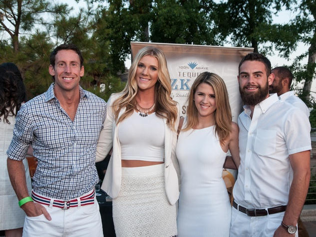 Schuyler Evans, from left, Lacee Wilke, Courtney Key and Andrew Alvis at the Urban Green Birthday en Blanc May 2014
