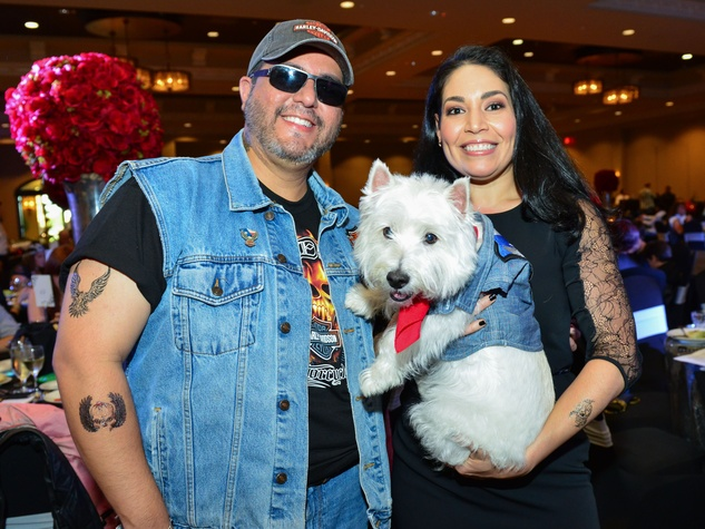 9 Dr. Roland Maldonado and Enid Sanchez with Dodger at Bad to the Bone June 2014