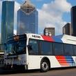 METRO, bus, downtown, skyline, Houston, November 2012