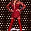 Tarra Gaines TUTS Kinky Boots Darius Harper as Lola February 2015 in costume