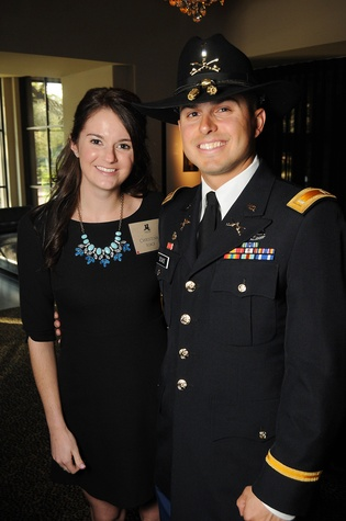 Christina and 1st Lt. Paul Scace at the Johnny Mac Soldiers Fund Inaugural Houston Gala April 2015