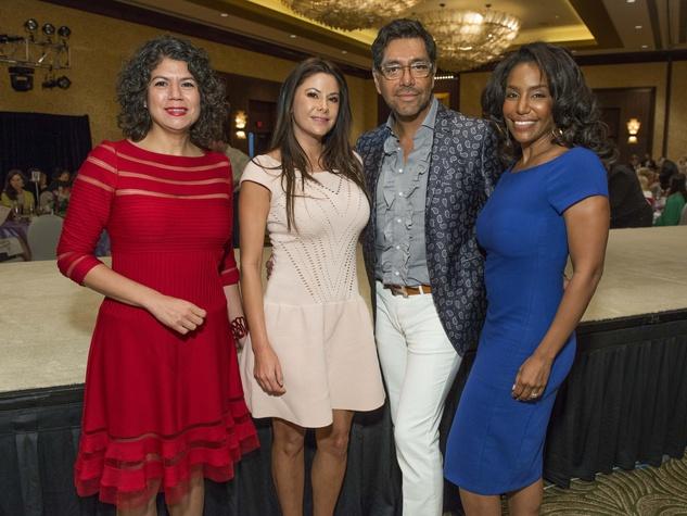 19 Carol Alvarado, from left, Mariana Debes, Ceron, and Tiffany Smith at the Latin Womens Initiative May 2014