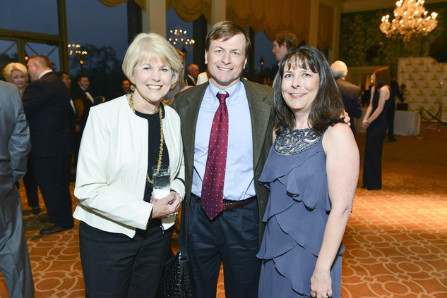 Linda Bradshaw, from left, with Gary and Michele Foster